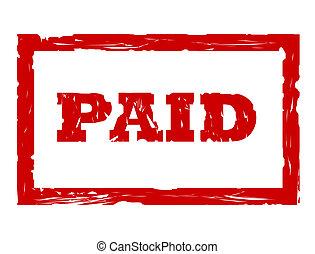 切手, 使われた, 支払われた
