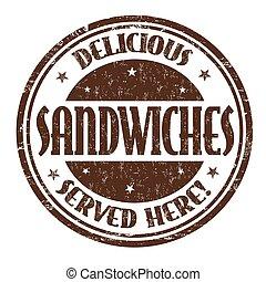 切手, 印, ∥あるいは∥, おいしい, サンドイッチ