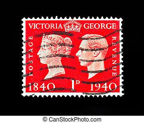 切手, 君主, 合併した, 型, 王国