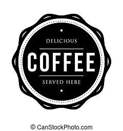切手, 型, コーヒー, ベクトル