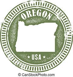 切手, 型, 州, オレゴン