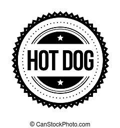 切手, 型, 暑い, ベクトル, 犬