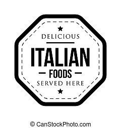 切手, 型, 食物, おいしい, イタリア語