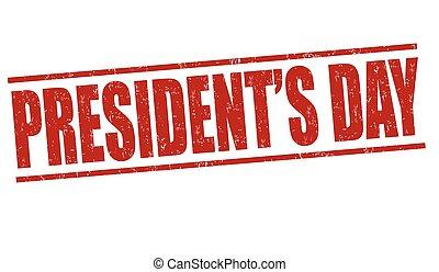 切手, 大統領日