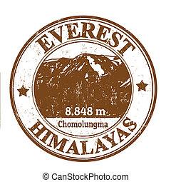 切手, 山, everest