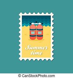 切手, 平ら, タンク, 酸素
