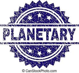 切手, 惑星, textured, グランジ, シール