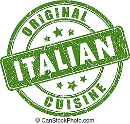 切手, 料理, イタリア語