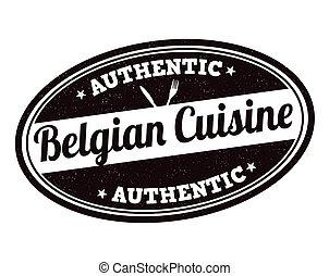 切手, 料理, ベルギー人
