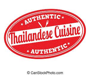 切手, 料理, thailandese