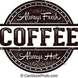 切手, 新たに, コーヒー