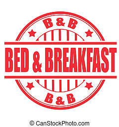 切手, 朝食, ベッド