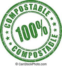 切手, 材料, compostable, ベクトル