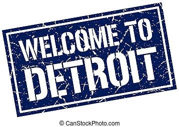 切手, 歓迎, デトロイト