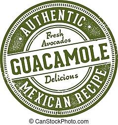 切手, 正しい, メキシコ人, guacamole, レストラン