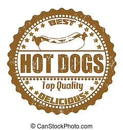 切手, 犬, 暑い