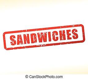 切手, 白, サンドイッチ, 背景