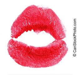 切手, 白, 女性, 接吻