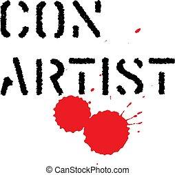 切手, 白, 犯罪者, 背景, 芸術家