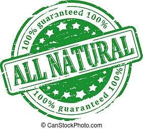 切手, 緑, すべて, -, 自然