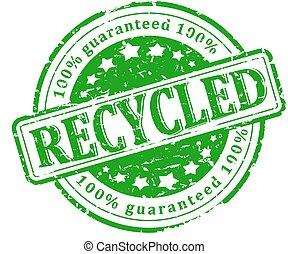 切手, 緑, -, リサイクルされる