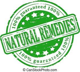 切手, 緑, -, 自然 治療