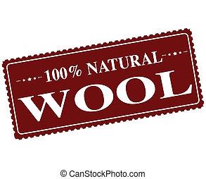切手, 羊毛, 自然