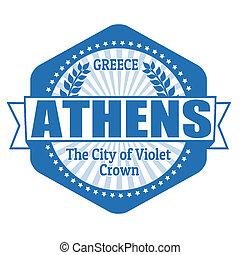 切手, 資本, アテネ, ラベル, ギリシャ, ∥あるいは∥