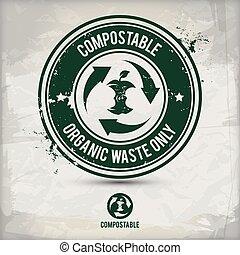 切手, 選択肢, 無駄, compostable