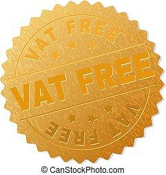 切手, 金, 大桶, 無料で, 円形浮彫り