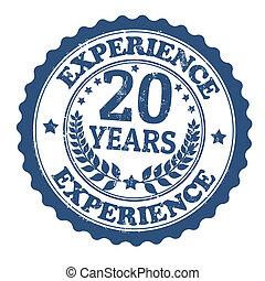 切手, 20, 経験, 年