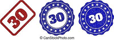切手, 30, グランジ, シール