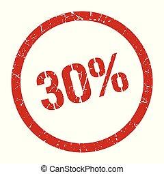 切手, 30%