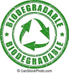 切手, biodegradable, ベクトル, 緑