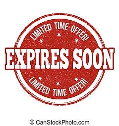 切手, expires, まもなく