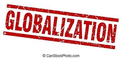 切手, globalization, 広場, グランジ, 赤