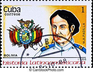 切手, m., a.。, 責任者, padilla, ボリビア, ショー