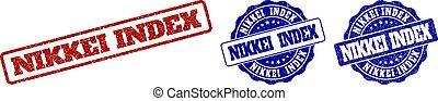 切手, nikkei, グランジ, 索引, シール