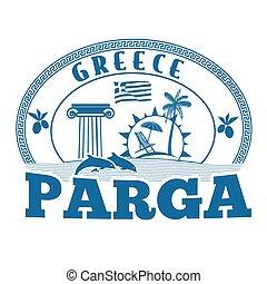 切手, parga, ギリシャ, ∥あるいは∥, ラベル