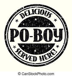 切手, po-boy, ∥あるいは∥, おいしい, 印
