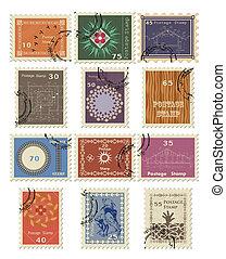 切手, sale., セット, illustration., ベクトル