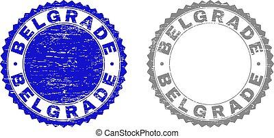 切手, textured, グランジ, ベオグラード, シール