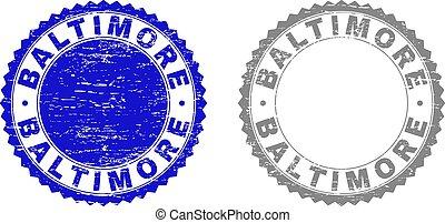 切手, textured, グランジ, ボルティモア, シール