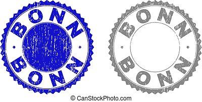 切手, textured, グランジ, ボン, シール
