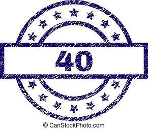 切手, textured, グランジ, 40, シール