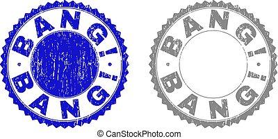 切手, textured, グランジ, bang!, シール