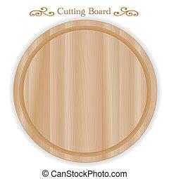 切断, チーズ, 木彫り, 板