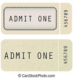 切符, スタイル, 別, ベクトル