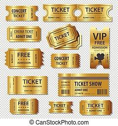切符, テンプレート, セット, 11, ベクトル, クーポン