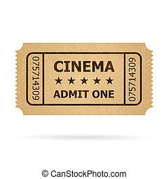 切符, レトロ, 映画館